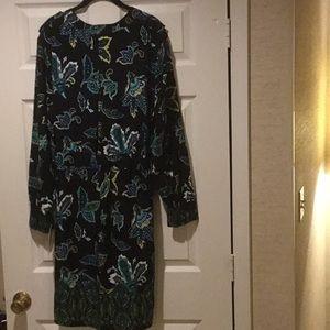 NWT Liz Claiborne Shirt Shift Dress Silk Road